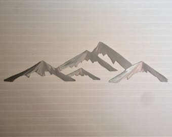 Crested Butte Colorado Ski Resort Metal Artwork Mountain Range Skiing Shopping Snowboarding Bedroom Den Living Room Cabin Wall Art Gift 3 Ft