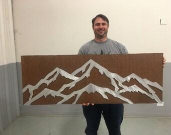 Aspen Mountain ski resort, Cabin Decor, Mountain house artwork, Metal wall art. Ski and snowboard. Gift for Skiing and Snowboarding lover