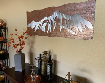 Mountain range, Metal wall art, Colorado mountains. Kitchen artwork, Gift for hiker, Rocky mountains, Nature lover, Wall decorating, Modern