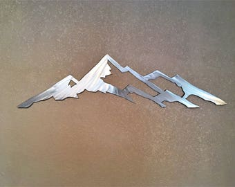 Mount Yale 14,200 feet. Colorado 14er. Metal wall art. Fourteener artwork. Colorado mountains. Gifts for hikers and adventures. Bedroom art