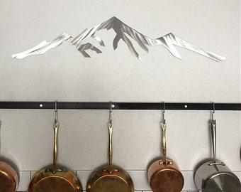 Pikes Peak 14,115 feet. Colorado 14er. Metal wall art. Mountain skyline for your bedroom. Mountain art. Colorado artwork. Fourteener - 14ers