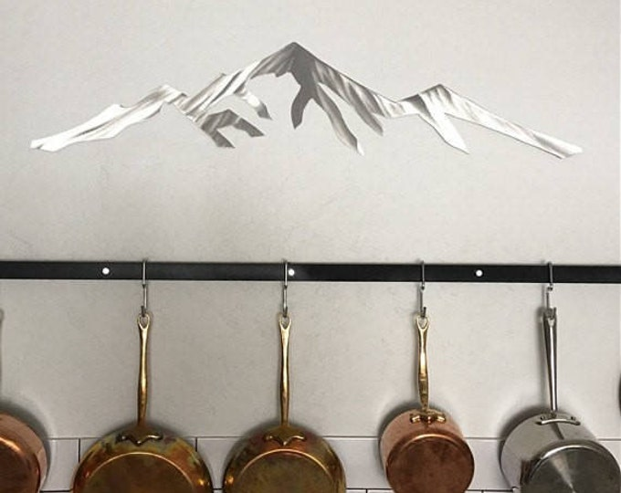 Pikes Peak 14,115 feet. Colorado 14er. Metal wall art. Mountain skyline for your bedroom. Mountain art. Colorado artwork. Fourteener - 14ers