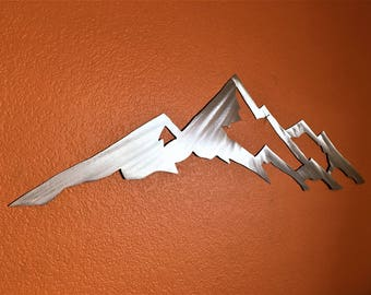 Mount Yale / Wall art / Home Decor / Modern Wall Hanging / Colorado 14er / Metal wall art / Aluminum / Wall Decor / Metal wall sculpture 3ft