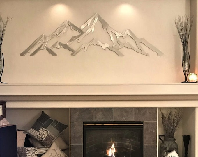 5ft Metal mountain range of Aspen Mountain / Modern Art / Aspen highlands / Skiing Decor / Snowboarding art / outdoors artwork / outside art