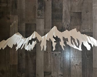 Grand Tetons National Park. Wyoming mountains. Jackson Hole. Yellowstone. Gift for here 3 Ft.