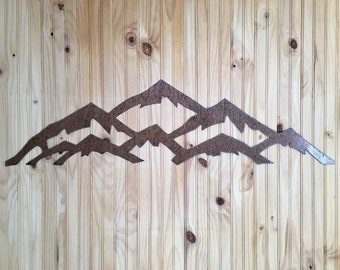 Custom 5 ft. Vail Ski Resort Metal Wall Art in the brown steel