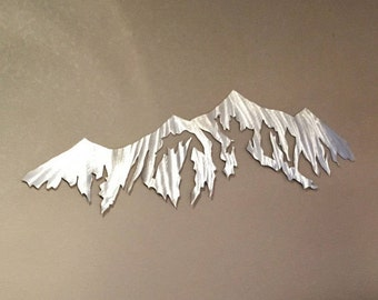 Mountain Wall Art Breckenridge Ski Area Colorado Metal Hand Cut Cabin Lodge Vacation Condo Artwork Decor Living Room Kitchen Bedroom Office