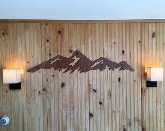 Boulder mountain range, Flatirons. Rustic Steel