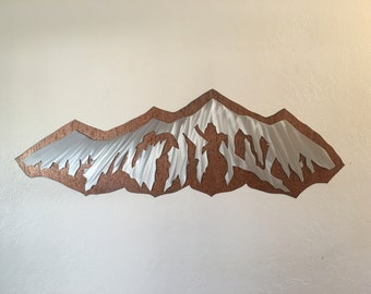 Snowboarding art, Ski artwork, Cabin decor, Mountain ranges, Lodge wall art, Fireplace artwork, Gift for hiker, Outdoorsman gift, Skiing art