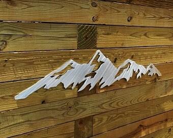 Boulder Flatirons Metal Wall Art. University of Colorado Boulder. Graduation Gift Idea. Hiking decor. CU