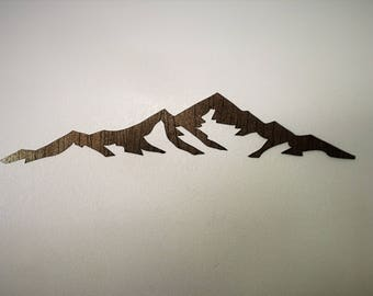 3 ft Mount Elbert 14,440 feet. Colorado 14er. Metal wall art. Colorado Fourteeners. Hiking artwork. Rustic decor. The mountains