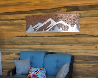 Estes Park Mountain Range. Metal wall art for your house. Home decor for bedroom and kitchen. Birthday gift for her. Hiker artwork, Hiking