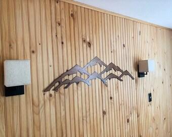 Rustic Mountain artwork of Vail ski resort 4ft
