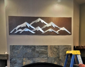 Colorado Ski Resort art, Snowboarding and Skiing artwork. Ski lodge decor. Mountain home, Log cabin, Colorado decor, Mountain riding