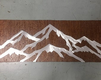 Aspen Mountain ski resort, Cabin Decor, Mountain house artwork, Metal wall art. Ski and snowboard. Gift for Skiing and Snowboarding lover