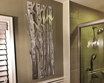 Aspen tree metal wall art. Colorado nature inspired, Kitchen decor, Birthday gift for her,  Modern artwork, Bathroom decor, Bear Mountain