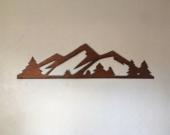 3 ft. Rocky Mountain National Park. Brown Patina Steel