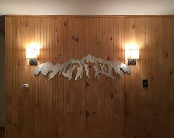 Large Metal Wall Art. Breckenridge Ski Resort. Mountain Range.Snowboard Mountains.Master Bedroom Wall Art.Colorado made.Vacation artwork 5ft