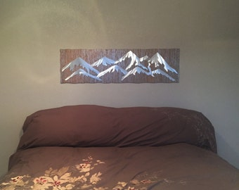Metal wall art birthday and anniversary gift. Ski and snowboard Mountain. Brother gift, Fathers Day gift. Outdoor art. Colorado 14er