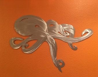 Octopus. Metal Wall Art. Ocean. Backsplash Decor. Gifts for Him. Lake House Decor. Nature Lovers Gifts. Fishing. Mancave. Outdoorsman.