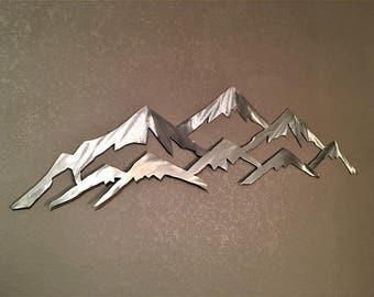 Vail Colorado Mountain Ski Resort Metal Wall Art Skiing Landscape Mountains Nature Outdoors Lodge Cabin Artwork Peaks Unique Gift Idea 3 Ft.