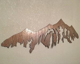 Breckenridge Ski Resort Rustic Steel 3 Ft Metal Wall Art Colorado Skiing Mountains Winter Lodge Decor Condo Vacation Home Man Cave Artwork