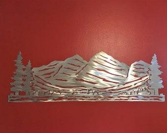 4 Foot Maroon Bells Art. Colorado Mountain. Metal Wall Art. Hiking Artwork. Aspen Home. Colorado Decor. Hikers art, Camping. Wilderness