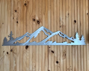 Alta Ski Resort. Utah Mountain. Ski and Snowboard. Handmade metal artwork made from aluminum for outside of home or inside on your wall 4ft