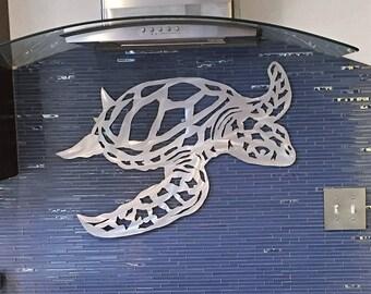 Metal Sea Turtle Art. Hawaiian decor. Beach House Artwork. Scuba diving gift. Florida Keys. Tropical