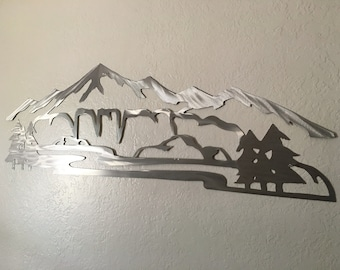 4 ft. Vail Ski Resort Metal Wall Art Mountains