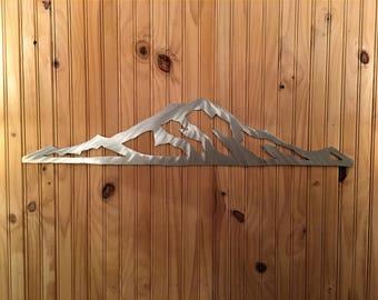 4 ft Mt. Rainier, Washington Mountain Range. Aluminum 4ft
