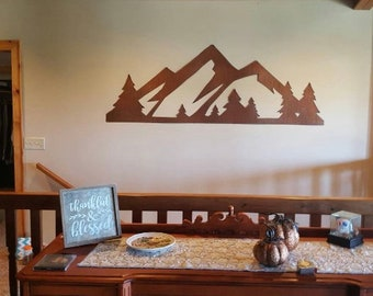 Rocky Mountain National Park. 4 ft Rustic Steel