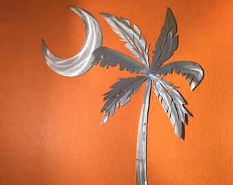 Palmetto tree, South Carolina flag, Palm tree art, Palm, State Flag, Atlantic ocean, Vacation gift, Summer fun, Saltwater artwork, Island