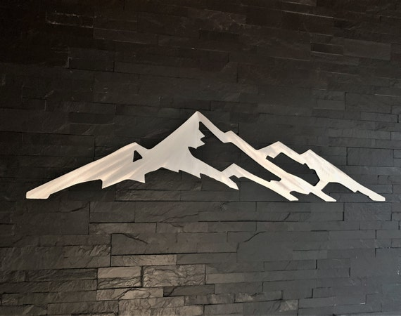 Collegiate Peaks. Mt. Yale 14er. Mountain art Colorado. Gifts for hikers. Metal wall art