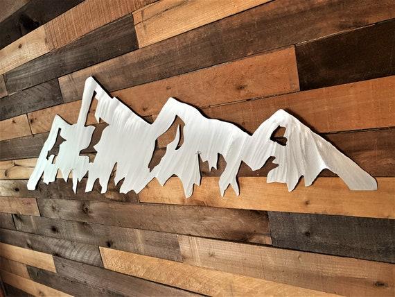 5 foot Boulder Flatirons metal wall art. CU graduation gift. Colorado mountain range. Hiking artwork. University of Colorado.