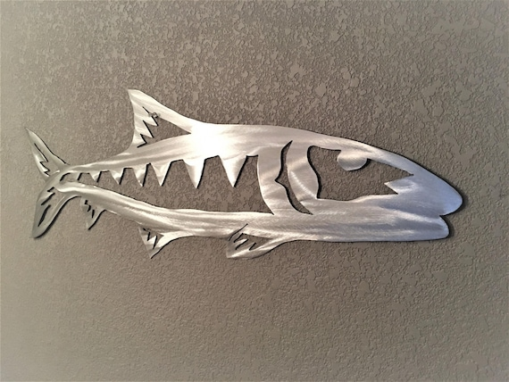 Bonefish Metal Wall Artwork Tropical Saltwater Florida Keys Fish Beach House Decor Wall Hanging Fisherman Fishing Gift Backcountry Fun Art