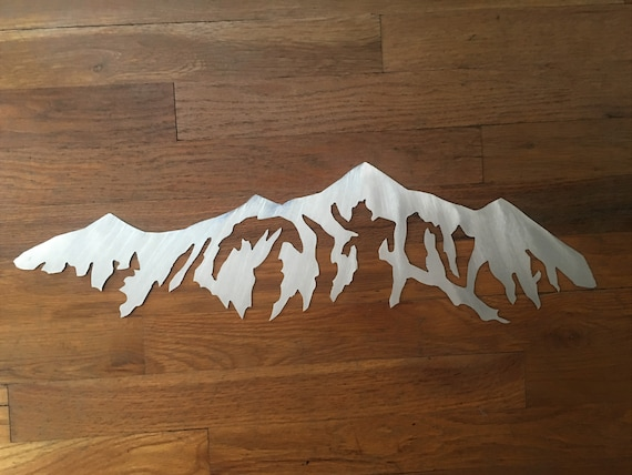 Breckenridge Ski Area Mountain Metal Wall Art Colorado Mountains Home Decor Handmade Artwork Birthday Gift Bathroom Bedroom Den Office Patio