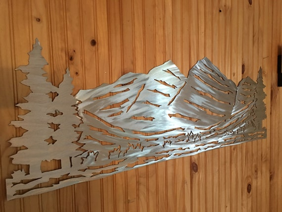 Mountain metal wall art. Maroon Bells. Hiking gift. Aspen home decor. Colorado 14er mountain. 4ft