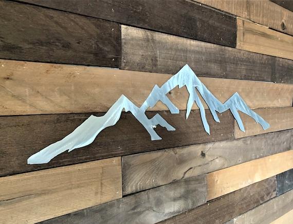 Colorado Springs Pikes Peak Mountain. Metal wall art for your bedroom. Fourteener. 5 ft.