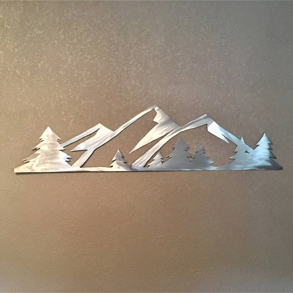 Rocky Mountain National Park home decor. Estes Park Colorado. Silver snow mountains 3 Ft. Gift for hiker