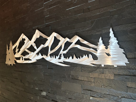 Winter Park metal mountain artwork. Ski resort decor. Colorado Mountains. Mary Jane Metal Wall Art. Gift for skier. Snowboarding art