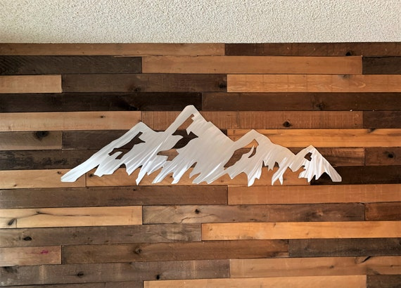 5 foot Boulder Flatirons metal wall art. CU graduation gift. Colorado mountain range. Hiking artwork. University of Colorado.