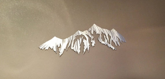 Breckenridge mountain artwork. Colorado ski resort. Metal mountain wall art. Gift for Skier or snowboarder in the family. Mountain life