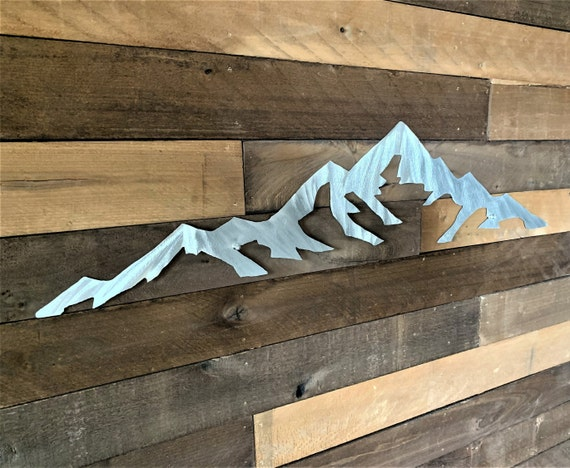 Metal mountain art. Mt Elbert. Colorado 14er Mountain 3ft.