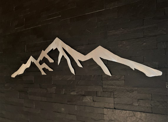 Colorado Springs Pikes Peak Mountain. Metal wall art for your bedroom. Fourteener. 5 ft.