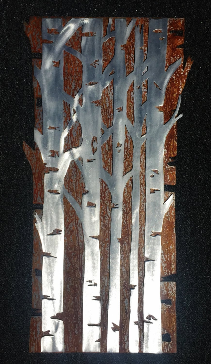 Metal Wall Art Aspen Tree Forest Gift For The Couple