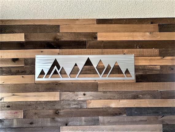 4ft Modern Metal Artwork. Colorado Mountains. Modern Decor. Bedroom Art. Gift for Skier