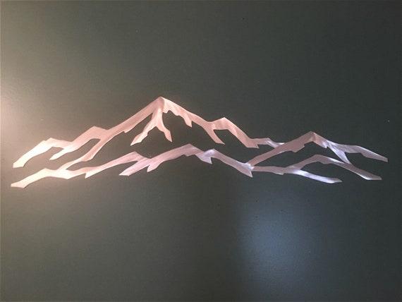 Park City Utah Ski Resort Metal Artwork Skier Snowboarder Gift Item Lodge Condo Cabin Vacation Rental Handmade Home Decor Unique 3 Ft. Art