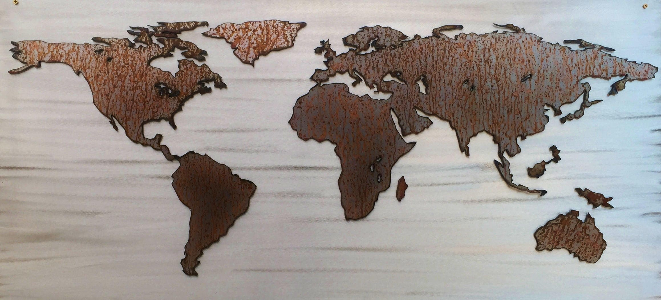 Large World Map Rustic Home Decor New Home Gifts For Couples Wall