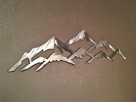 Vail Colorado Mountain Ski Resort Metal Wall Art Skiing Landscape Mountains Nature Outdoors Lodge Cabin Artwork Peaks Unique Gift Idea 3 Ft.